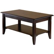 "Winsome Nolan 18.03"" x 37"" x 21.02"" Composite Wood Coffee Table, Cappuccino"