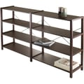 Winsome Sheldon Composite/Metal 2X 4-Tier Crossed Wire Shelf, Cappuccino