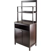 Winsome Jamie Wood 2-Doors Cabinet With Hutch, Cappuccino