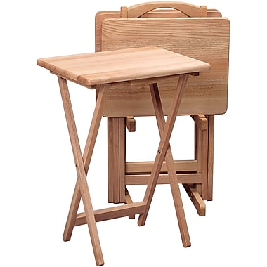 Winsome tv table set natural 5 set 42520 staples for Table 19 review