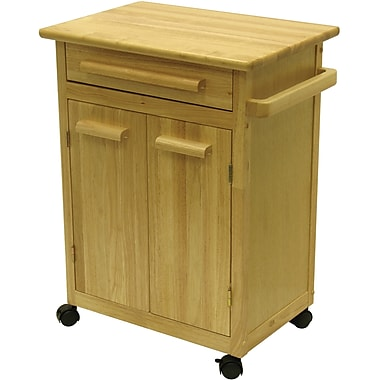 Winsome Wood Kitchen Cart With 1-Drawer, Cabinet, Natural