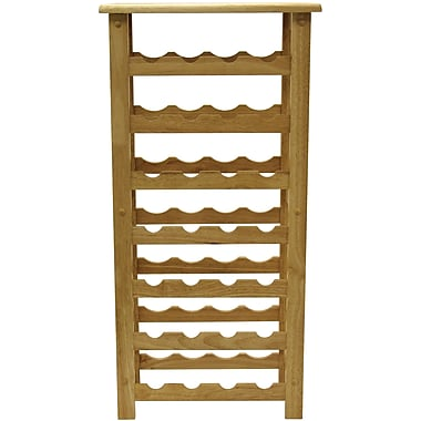 Winsome 37in. x 18 1/2in. x 10.2in. Wood 28-Bottle Wine Rack, Beech