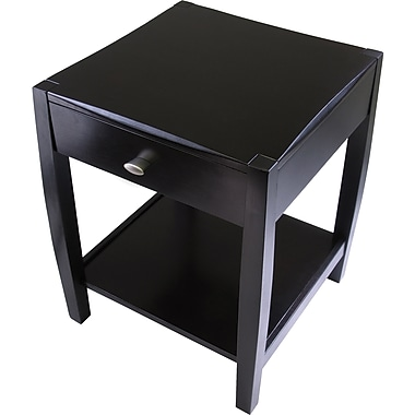 Winsome Cleo 25in. x 20.47in. x 20.47in. Composite Wood Accent Table, Espresso