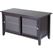 Winsome Wood TV Media Stand With Sliding Door, Dark Espresso