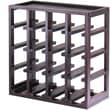 Winsome Kingston 20.47in. x 20.47in. x 9.92in. Wood 16-Bottle Stackable Slot Wine Cube, Dark Espresso