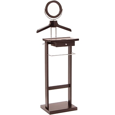 Winsome Wood Valet Stand With Wood Base, Dark Espresso