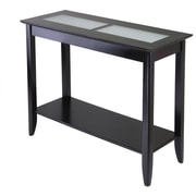 """Winsome Syrah 30"""" x 40"""" x 16.3"""" Composite Wood Console/Hall Table With Frosted Glass, Dark Espresso"""