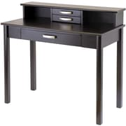 Winsome Liso Standard Writing Desk with Hutch, Espresso (92273)
