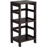 Winsome Leo Solid/Composite Wood 2-Tier Narrow Storage Shelf, Espresso