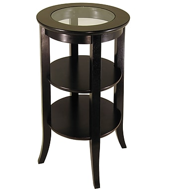 Winsome Genoa 30.2in. x 18 1/2in. x 18 1/2in. Composite Wood Accent Table, Dark Espresso