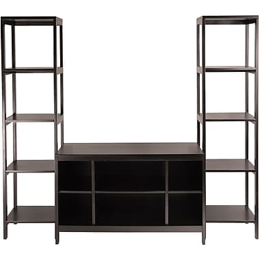 Winsome Hailey Wood TV Stand Self Set, Dark Espresso, 3/Set
