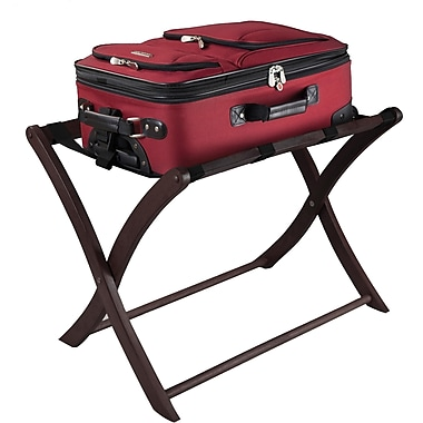 Winsome Wood Foldable Luggage Rack, Dark Espresso