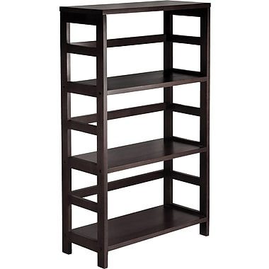 Winsome Leo Beech Wood 3-Tier Wide Storage Shelf, Espresso