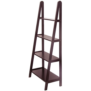 Winsome Beech Wood 4-Tier A-Frame Shelf, Dark Espresso