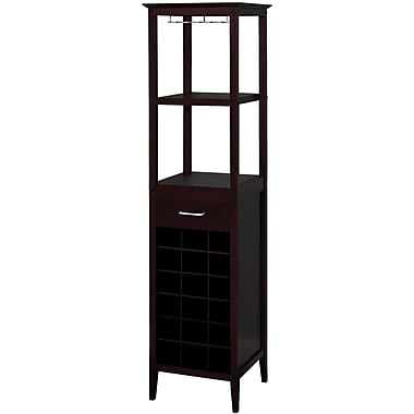 Winsome 67.3in. x 17.3in. x 17.3in. Wood Square Wine Tower, Espresso