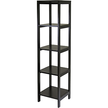 Winsome Hailey Wood 5 Tier Modular Tower Shelf, Dark Espresso