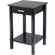 "Winsome Liso 31.1"" x 20 1/2"" x 20 1/2"" Composite Wood End Table/Printer Table, Dark Brown"