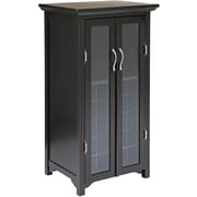 "Winsome Mason 40"" x 22"" x 17.2"" French Doors 20-Bottle Wine Cabinet, Dark Espresso"