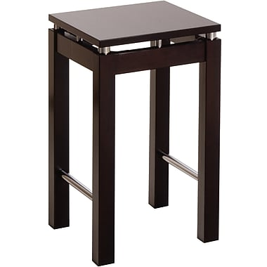 Winsome Linea Beech Wood Bar Stool With Chrome Accent, Dark Espresso