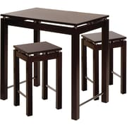 "Winsome Linea 34"" x 35 1/2"" x 23 1/2"" Wood Pub Kitchen Island Table With 2 Stool, Dark Espresso"