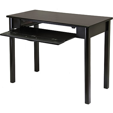 Winsome Composite Wood Liso Computer Desk With Pull Out Key Board, Dark Espresso