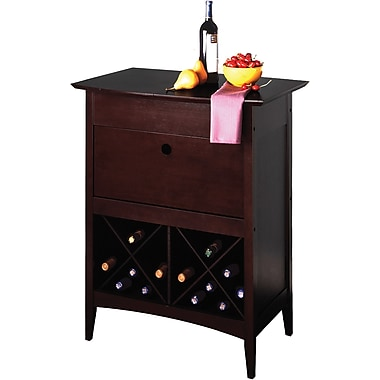 Winsome 37in. x 29.9in. x 20.1in. Wood Rectangular Wine Butler, Dark Espresso