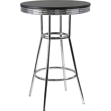 Winsome Summit 40.55in. x 30in. x 30in. Wood Round Pub Table Round, Black