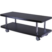 Winsome Evans Wood Curved Shelf TV Stand, Dark Espresso