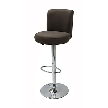 Winsome Jayden Micro Fiber Air Lift Stool, Charcoal/Gray