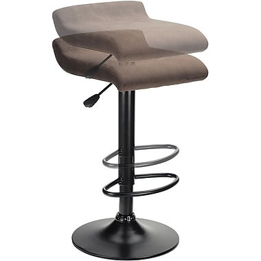 Winsome Marni Micro Fiber Air Lift Stool, Black