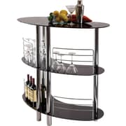 "Winsome Martini 41.85"" x 47.05"" x 22.64"" Glass Entertainment Bar, Black"