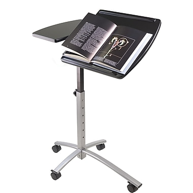 Winsome Eric MDF Adjustable Height Laptop Cart, Black