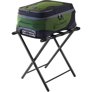 Winsome Tavin Metal Foldable Straight Leg Luggage Rack, Black