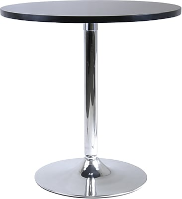 """""Winsome Spectrum 29 1/2"""""""" x 28.74"""""""" x 28.74"""""""" MDF Round Dinning Table, Black"""""" 55773"