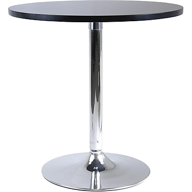 Winsome Spectrum 29 1/2in. x 28.74in. x 28.74in. MDF Round Dinning Table, Black