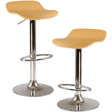 Winsome Kallie Wood Veneer Adjustable Air Lift Stool, Cappuccino