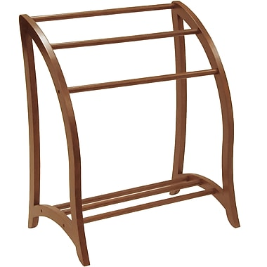 Winsome Wood Quilt Rack With 3 Rungs, Antique Walnut