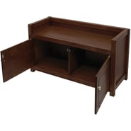 Winsome Regalia 2 Doors Storage Bench, Antique Walnut
