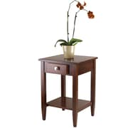 "Winsome Richmond 25.98"" x 17.95"" x 18.68"" Wood End Table/Printer Stand, Tapered Leg, Antique Walnut"