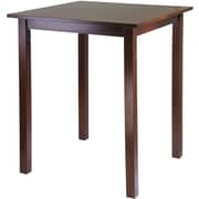 "Winsome Parkland 38.98"" x 33.86"" x 33.86"" Wood Square High/Pub Square Table, Antique Walnut"