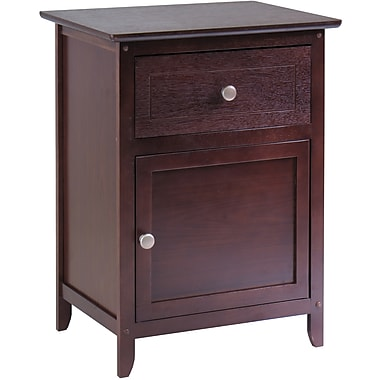 Winsome 25in. x 18.9in. x 14.96in. Wood Night Stand/Accent Table, Brown