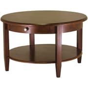 "Winsome 18"" x 30"" x 30"" Concord Wood Round Coffee Table, Antique Walnut"