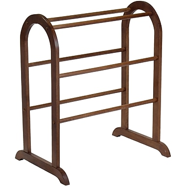 Winsome Wood Quilt Rack With 6 Rungs, Antique Walnut