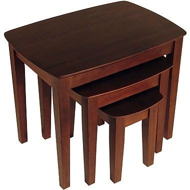 Winsome 21.9in. x 26.8in. x 18.7in. Beech Wood Nesting Table, Brown