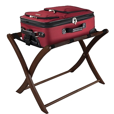 Winsome Wood Foldable Luggage Rack, Antique Walnut