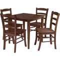 Winsome Groveland 29.13in. x 29.53in. x 29.53in. Wood Square Dining Table With 4 Chair, Antique Walnut