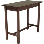 Winsome Wood Kitchen Island Table With 2-Drawers, Antique Walnut