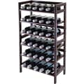 Winsome 38 1/2in. x 21.6in. x 11.54in. Wood 30-Bottle Silvi Wine Rack, Antique Walnut