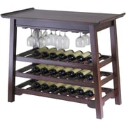"Winsome Chinois 32"" x 37"" x 20"" Wood Rectangular Console Wine Table With Glass Rack, ..."