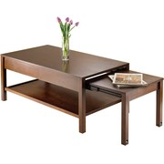 Winsome Brandon 17.24 x 53.98 x 22.28 Wood Expandable Coffee Table, Brown